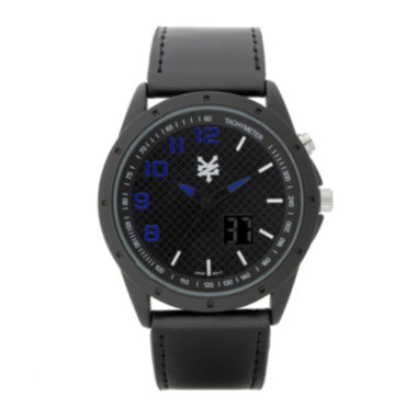 jcpenney.com | Zoo York® Mens Black Leather Strap Watch