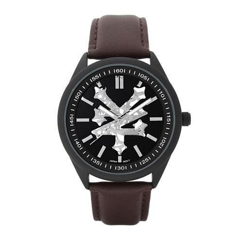 Zoo York® Mens Brown Strap Watch