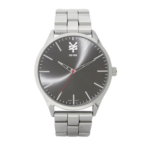 Zoo York® Mens Silvertone Bracelet Watch