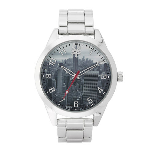 Zoo York® Mens Silver-Tone Graphic Bracelet Watch