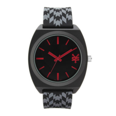 jcpenney.com | Zoo York® Mens Black And Red Rubber Strap Watch