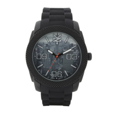 jcpenney.com | Zoo York® Mens Black Graphic Rubber Strap Watch