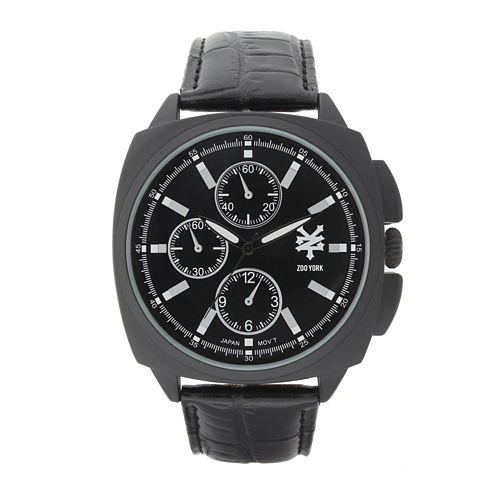 Zoo York® Mens Black Strap Watch