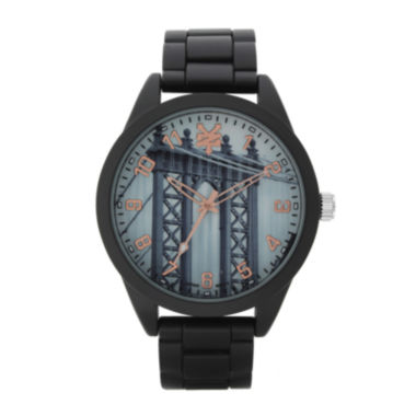 jcpenney.com | Zoo York® Mens Graphic Rose-Tone Black Bracelet Watch
