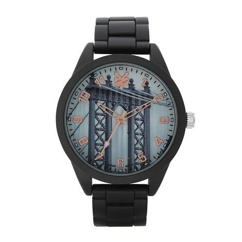 Zoo York® Mens Black And Rose Gold Tone Bracelet Watch