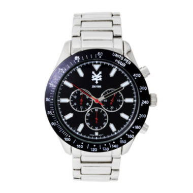 jcpenney.com | Zoo York® Mens Silvertone Three Eye Bracelet Watch