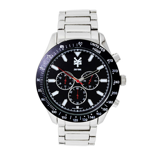 Zoo York® Mens Silvertone Three Eye Bracelet Watch