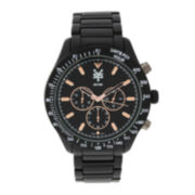 Zoo York® Mens Rose-Tone Black Bracelet Watch