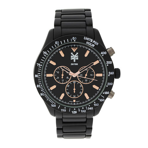 Zoo York® Mens Black Three Eye Bracelet Watch