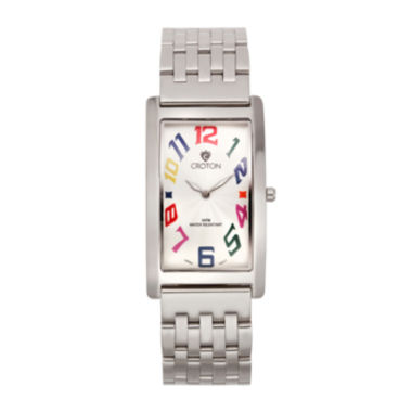 jcpenney.com | Croton Mens Rectangular Rainbow Numbers Watch