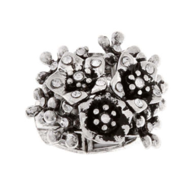 jcpenney.com | Mixit™ Silver-Tone Stretch Flower Ring
