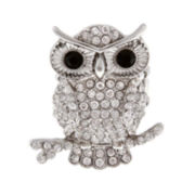 Mixit™ Silver-Tone Stretch Owl Ring