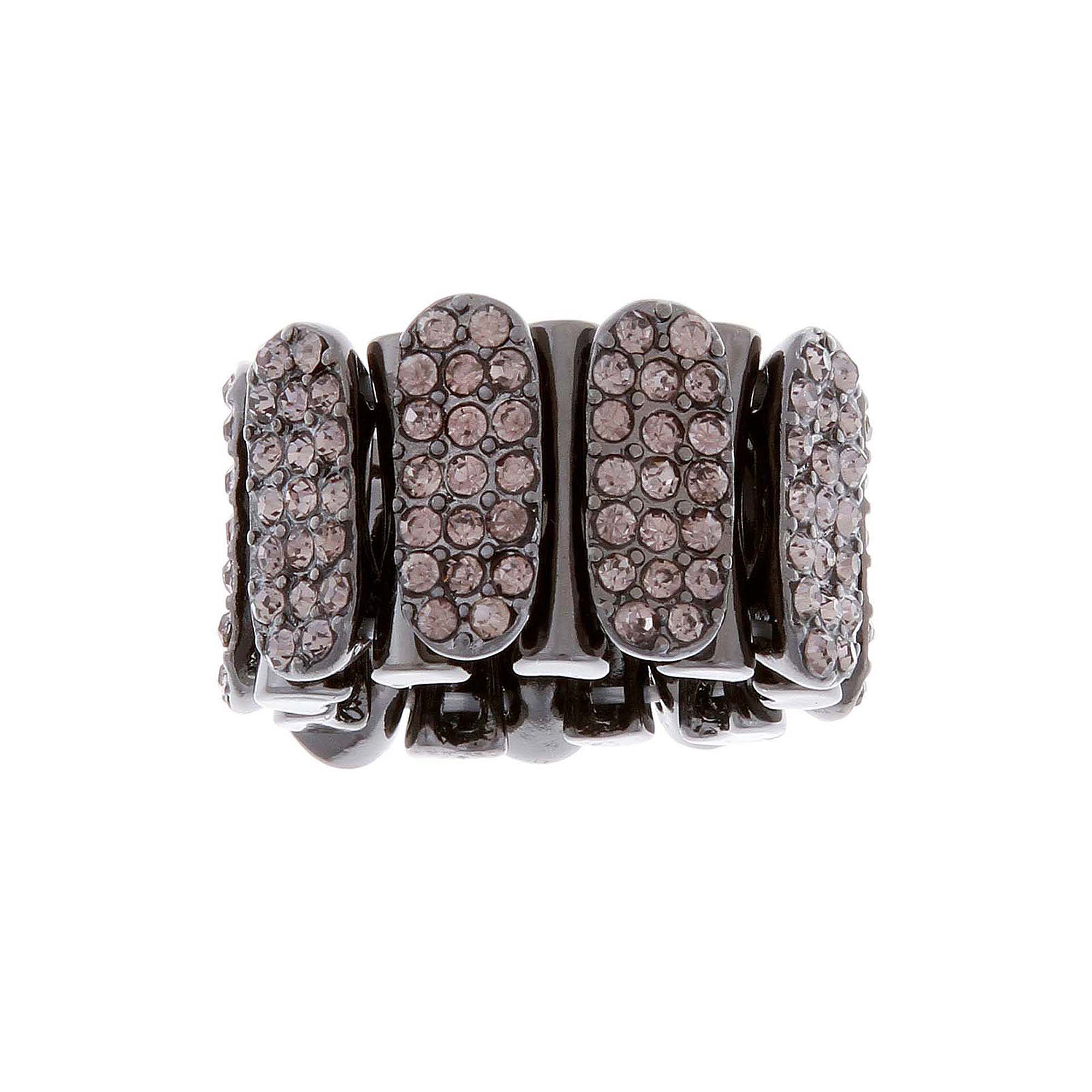Mixit™ Hematite Crystal Stone Stretch Ring