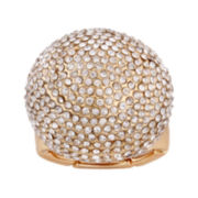 Mixit™ Gold-Tone Crystal Stone Stretch Ring