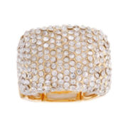 Mixit™ Gold-Tone Crystal Stretch Ring