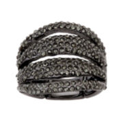 Mixit™ Hematite Crystal Stretch Ring