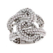 Mixit™ Silver-Tone Stretch Braid Ring