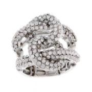 Mixit™ Silver-Tone Stretch Braid Ring