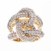 Mixit™ Gold-Tone Stretch Braid Ring