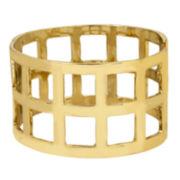 Worthington® Geometric Gold-Tone Hinged Bangle Bracelet