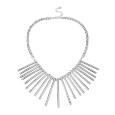 jcpenney.com | Worthington® Silver-Tone Spike Collar Necklace