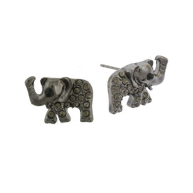 jcpenney.com | Capelli New York Elephant Post Earrings