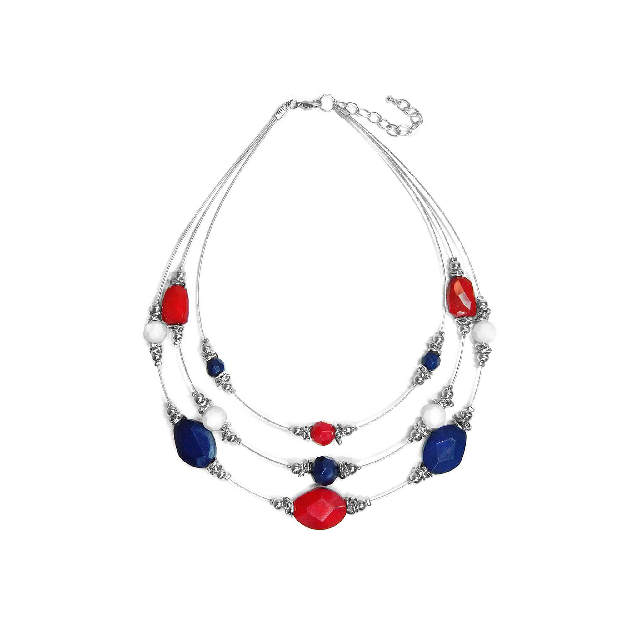 Studio by Carol Dauplaise Multi-Row Illusion Necklace