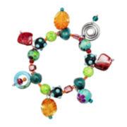 Aris by Treska Silver-Tone Stretch Trinket Bracelet