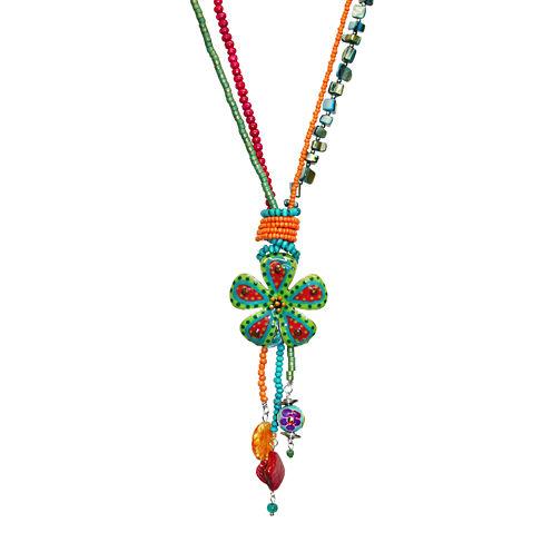 Aris by Treska Silver-Tone Long Pendant Necklace