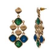 Mixit™ Peacock Diamond-Shaped Drop Earrings