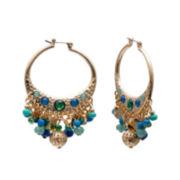 Mixit™ Peacock Dangle Hoop Earrings