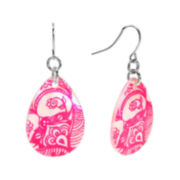 Studio by Carol Dauplaise Leaf-Print Teardrop Earrings