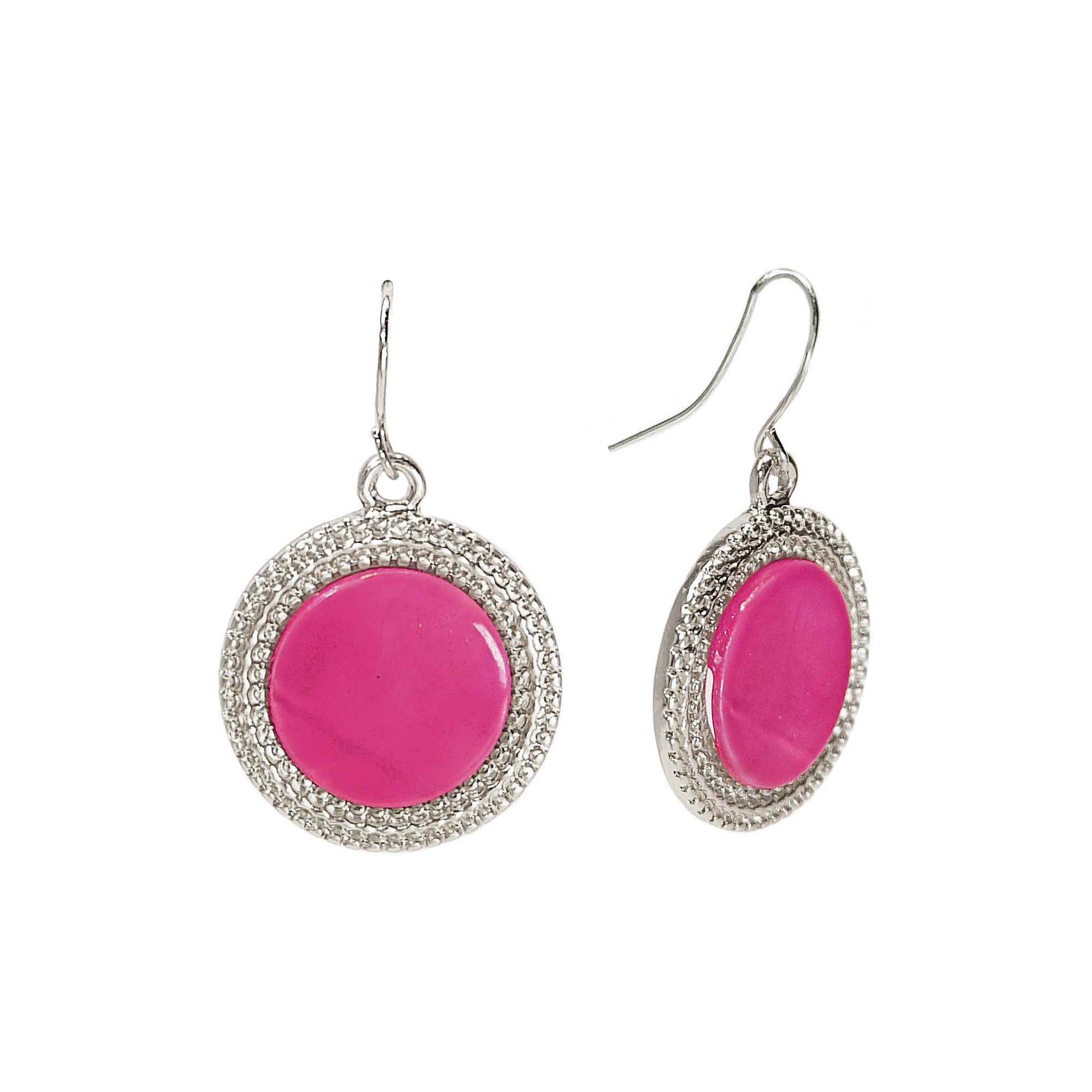 Studio by Carol Dauplaise Pink Shell Drop Earrings