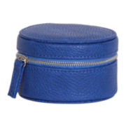 Mele & Co. Joy Blue Faux-Leather Jewelry Travel Case