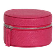 Mele & Co. Joy Magenta Faux-Leather Jewelry Travel Case
