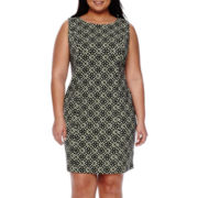 Alyx® Sleeveless Print Sheath Dress - Plus