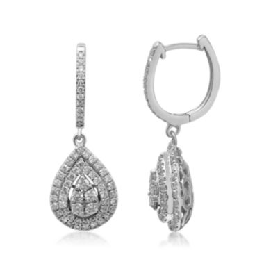 jcpenney.com | LIMITED QUANTITIES 1 1/4 CT. T.W. Diamond 14K White Gold Earrings