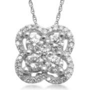 CLOSEOUT! 1/2 CT. T. W. Diamond 14K White Gold Pendant