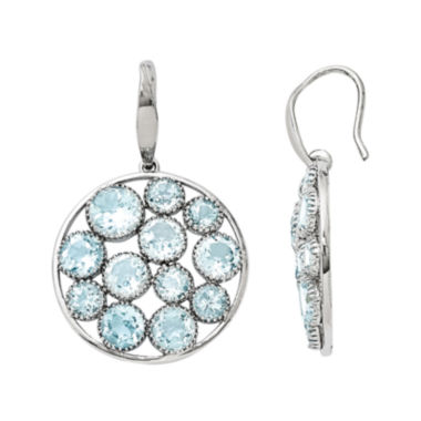 jcpenney.com | Genuine Blue Topaz Sterling Silver Round Drop Earrings