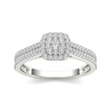jcpenney.com | ½ CT. T.W. 10K White Gold Engagement Ring