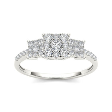 jcpenney.com | 1/2 CT. T.W. Diamond 10K White Gold Engagement Ring