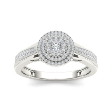 jcpenney.com | 1/3 CT. T.W. Diamond 10K White Gold Engagement Ring