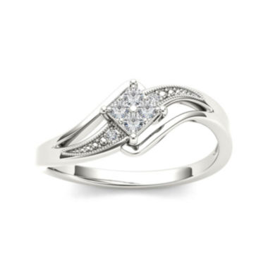 jcpenney.com | 1/10 CT. T.W. Diamond 10K White Gold Engagement Ring