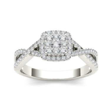 jcpenney.com | 3/8 CT. T.W. Diamond 10K White Gold Engagement Ring