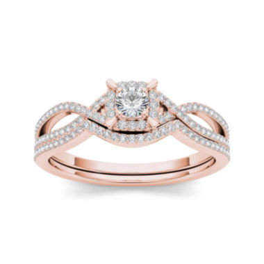jcpenney.com | 1/3 CT. T.W. Diamond 14K Rose Gold Engagement Ring