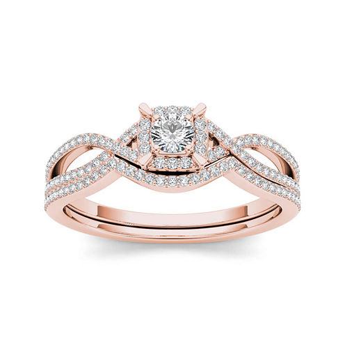 1/3 CT. T.W. Diamond 14K Rose Gold Engagement Ring