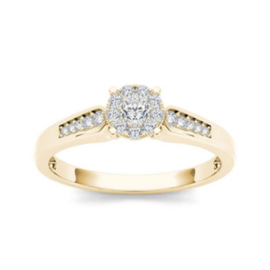 jcpenney.com | 1/4 CT. T.W. Diamond 10K Yellow Gold Engagement Ring