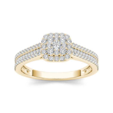jcpenney.com | 1/2 CT. T.W. Diamond 10K Yellow Gold Engagement Ring