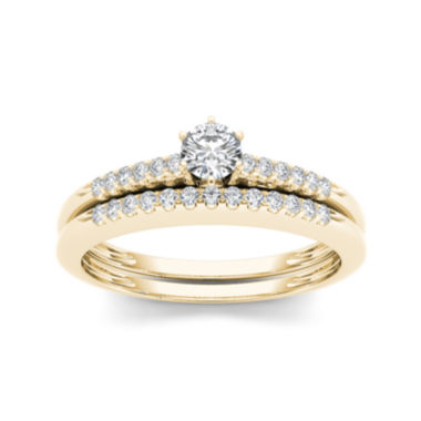 jcpenney.com | 1/3 CT. T.W. Diamond 10K Yellow Gold Bridal Set