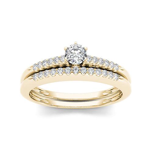 1/3 CT. T.W. Diamond 10K Yellow Gold Bridal Set